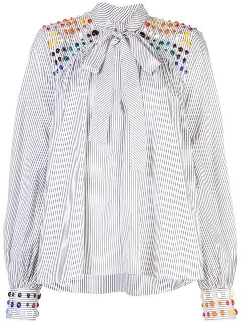 Rosie Assoulin Bead Embellished Blouse - Farfetch