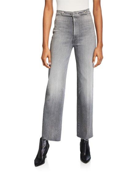 The Loop De Loop Frayed High-Rise Jeans