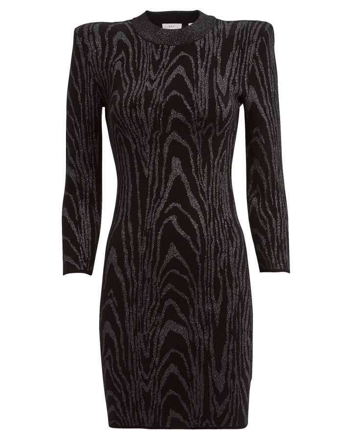 Ziggy Metallic Jacquard Mini Dress
