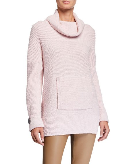 Seize The Day Pretty In Pink Cowl-Neck Sweater