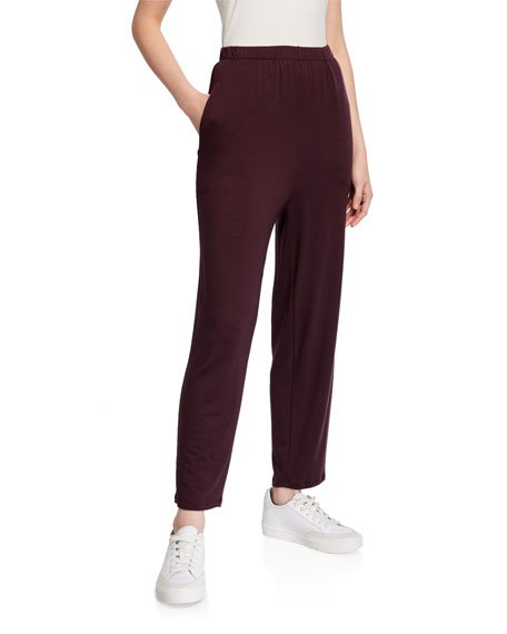 Slouchy Jersey Ankle Pants w/ Pockets