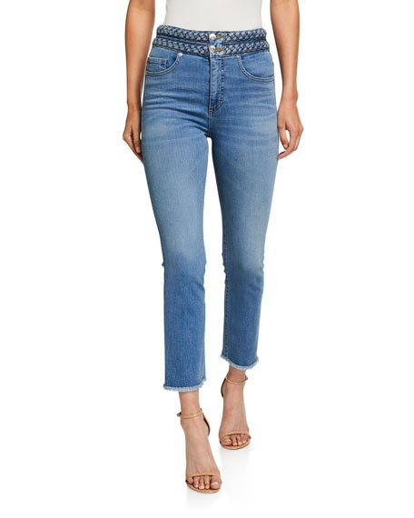 Carly Braided Kick Flare Jeans