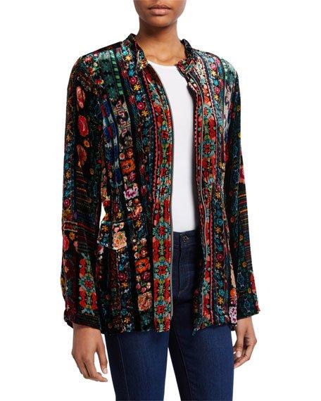 Trixie Velvet Anorak Jacket
