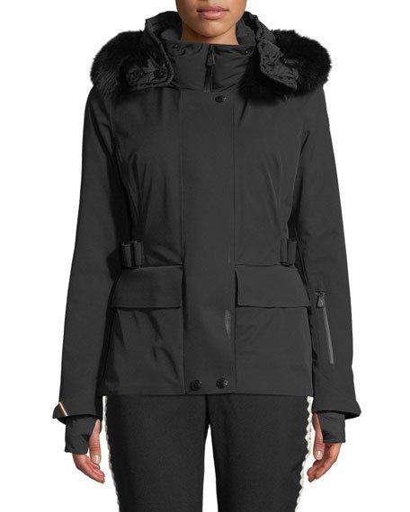 Entova Parka Coat w/ Removable Fur Hood