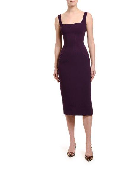 Cady Jewel-Button Tubino Dress