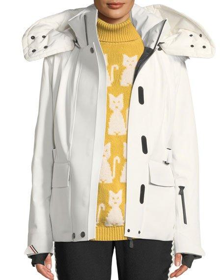 Entova Coat with Detachable Fur Hood