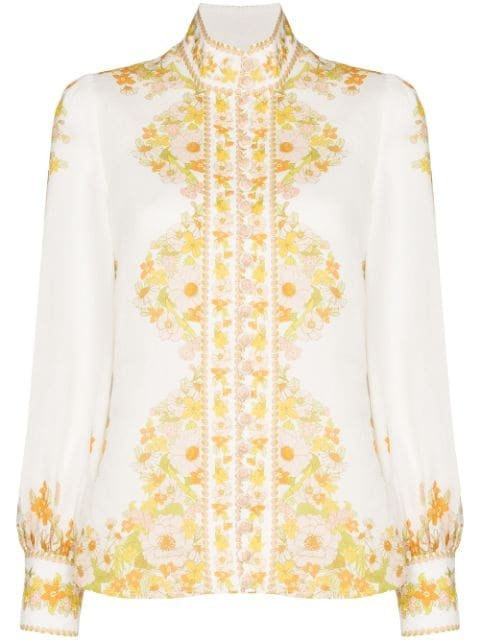 Zimmermann Floral Print Shirt - Farfetch