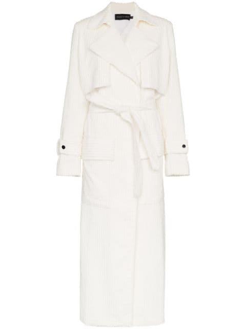 Michael Lo Sordo Jumbo Cord Cotton White Trench Coat - Farfetch