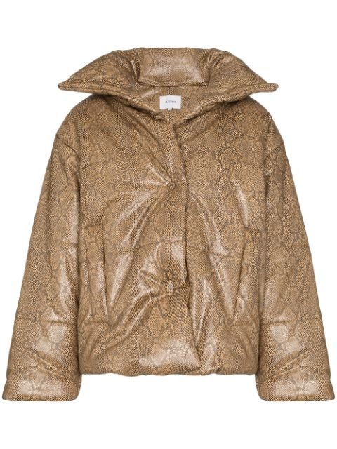 Nanushka Hide snakeskin-print Puffer Jacket - Farfetch