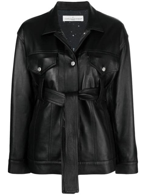 Golden Goose Pictor Leather Belted Jacket - Farfetch