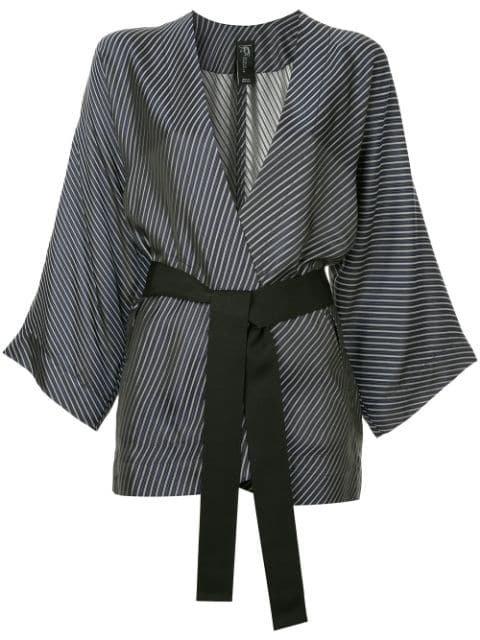 Zero + Maria Cornejo Diagonal Stripe Kimono Blazer - Farfetch