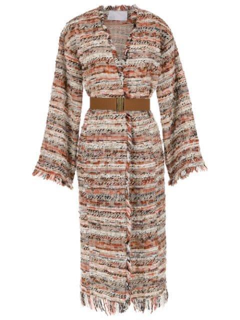 Nk Long Knit Coat - Farfetch