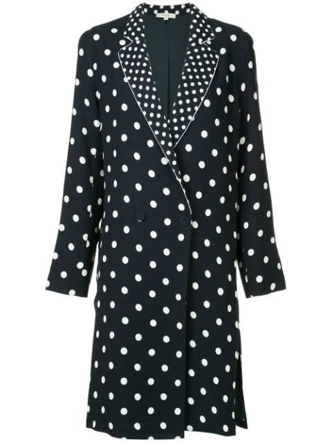 Layeur Polka Dot Longline Jacket - Farfetch