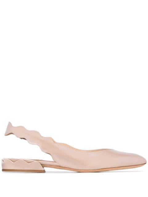 Chloé Laurena Scalloped Slingback Pumps - Farfetch