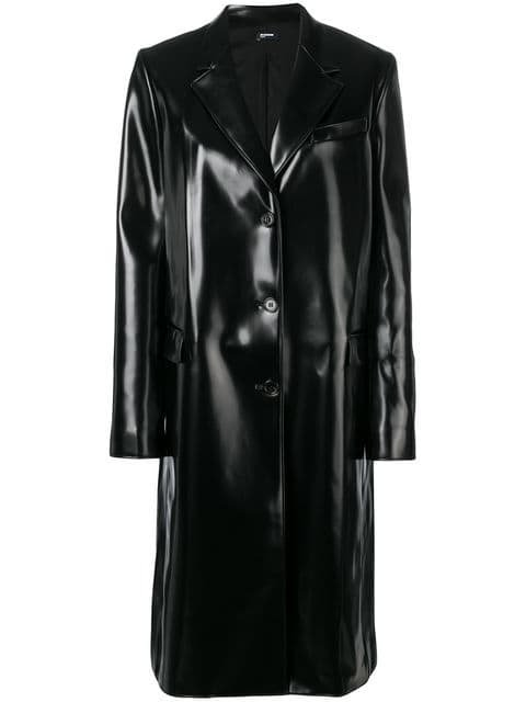 Jil Sander Navy Buttoned Rain Coat - Farfetch