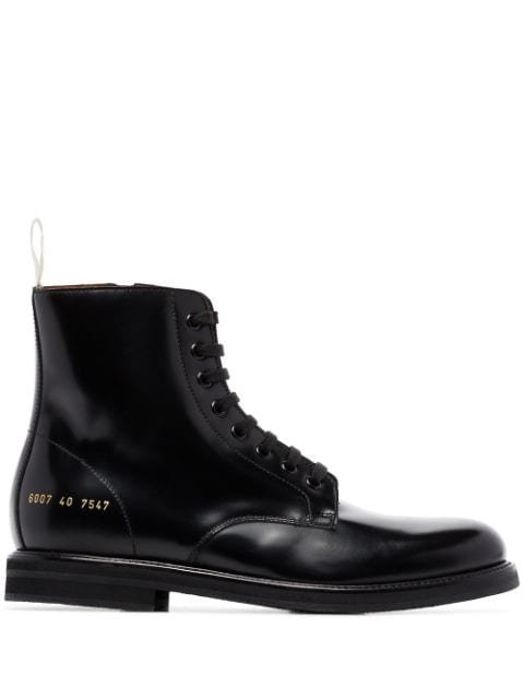Common Projects Leather Ankle Boots - Farfetch