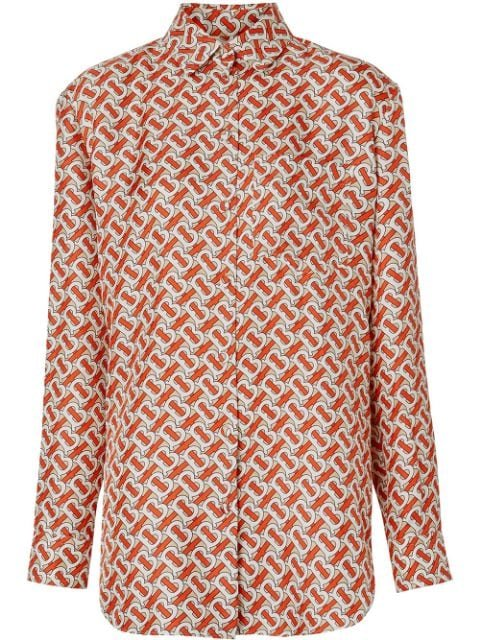 Burberry Monogram Print Silk Shirt - Farfetch