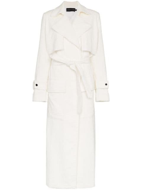 Michael Lo Sordo Jumbo Cord Cotton White Trench Coat - Farfetch
