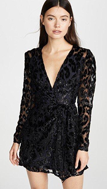 Metallic Leopard Mini Dress