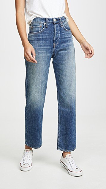 Maya High Rise Straight Ankle Jeans
