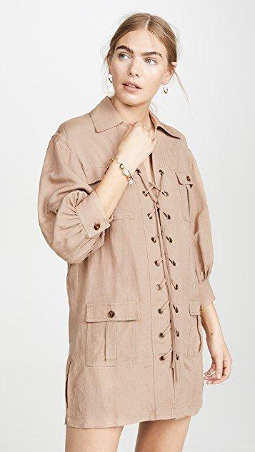 Linen Safari Dress