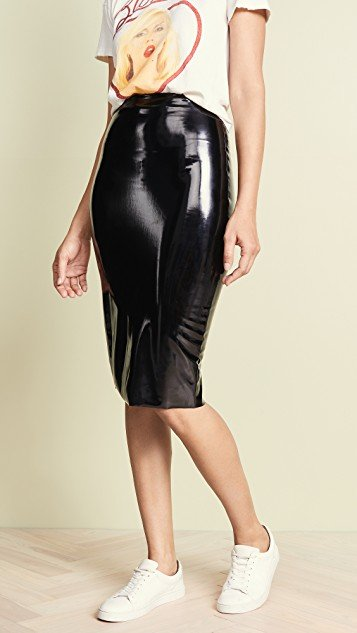 Perfect Patent Midi Skirt