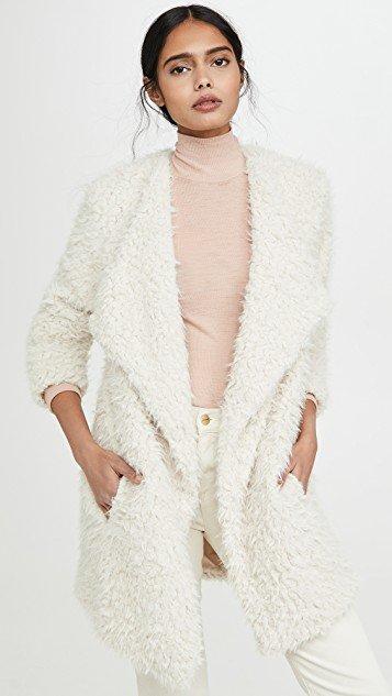 Soft Serve Drape Front Coat