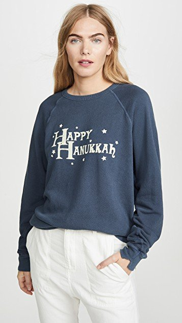 The College Sweatshirt w/ Hanukkah Graphic