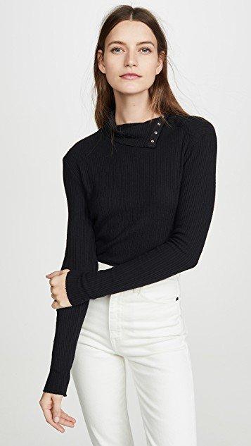 Brushed Rib Split Collar Shirt
