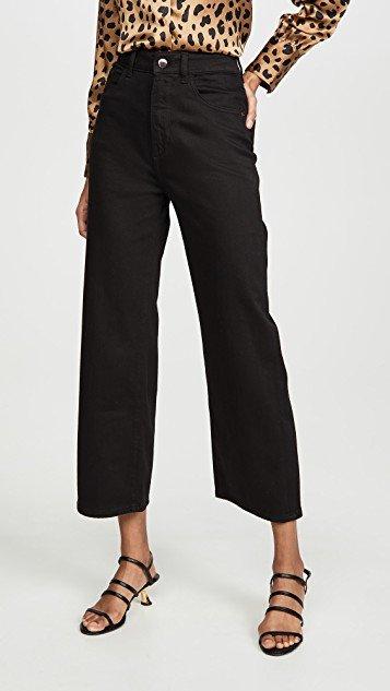 x Marianna Hewitt Hepburn High Rise Wide Leg Jeans