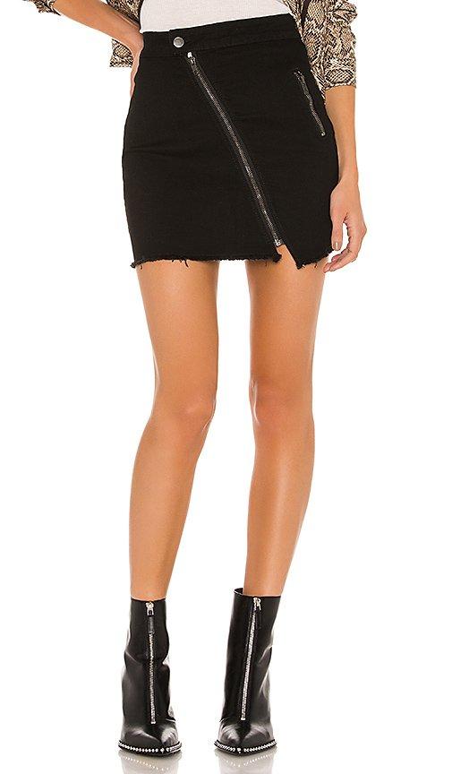 Willah Distressed Denim Skirt