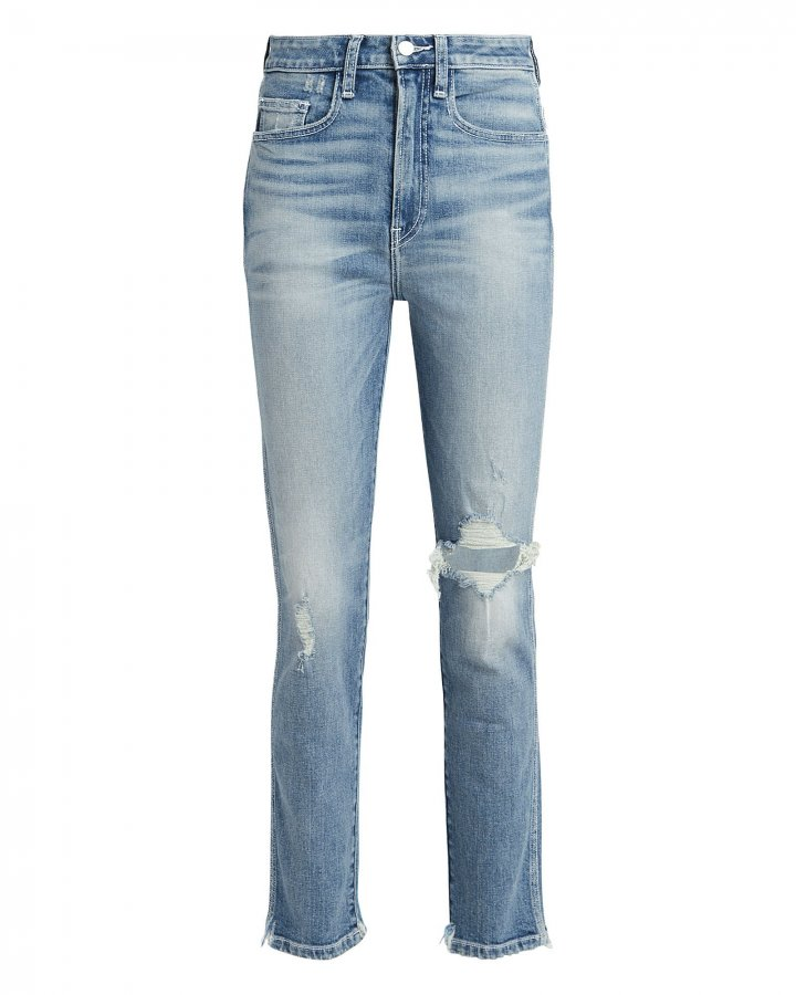 Vintage Distressed High-Rise Jeans