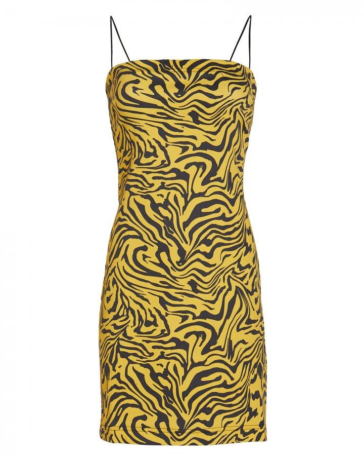 Lotte Zebra Print Denim Dress
