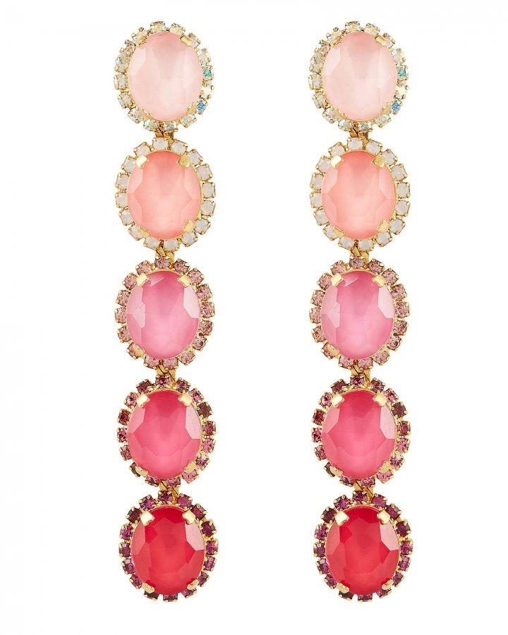 Von Drop Crystal Earrings