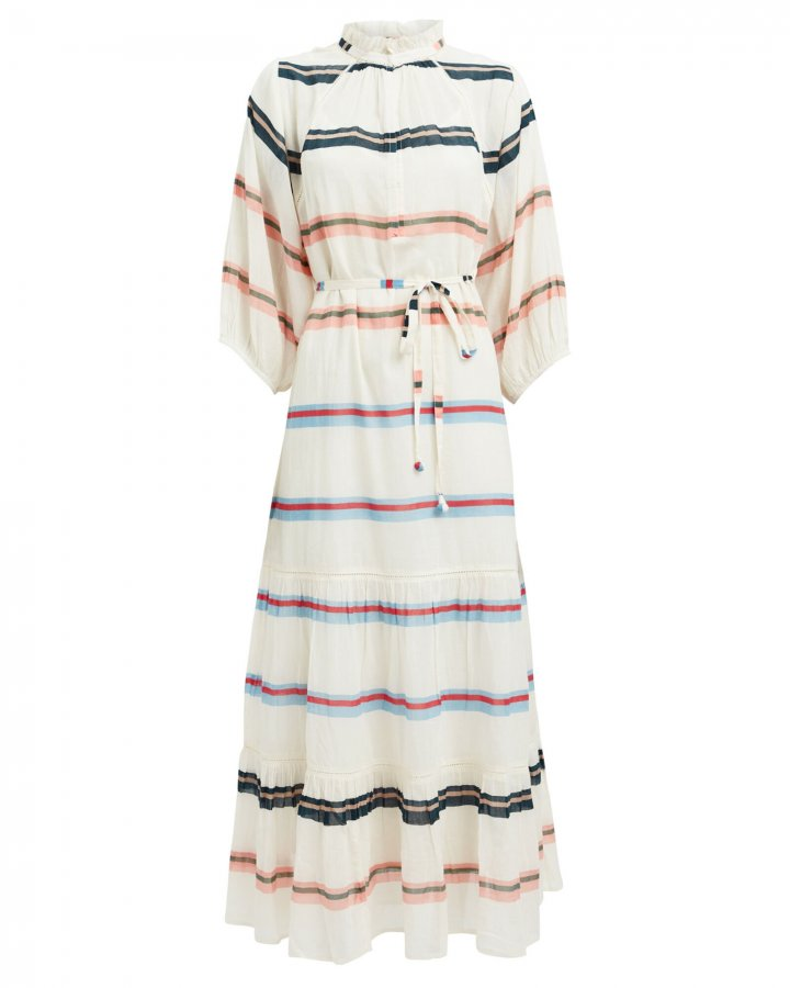 Granada Striped Cotton Maxi Dress