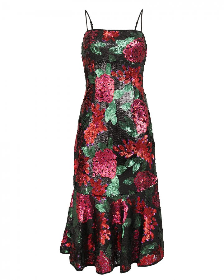 Deirdre Floral Sequin Dress