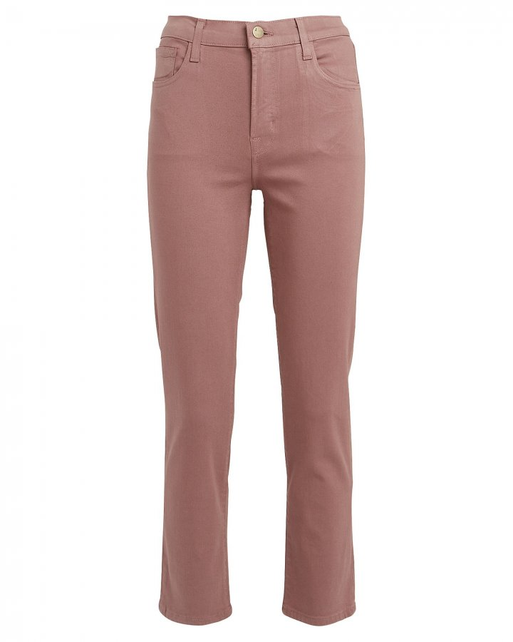 Ruby Coated Cigarette Cropped Jeans