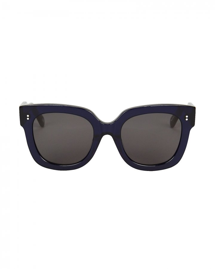 008 Rectangle Almost Black Sunglasses