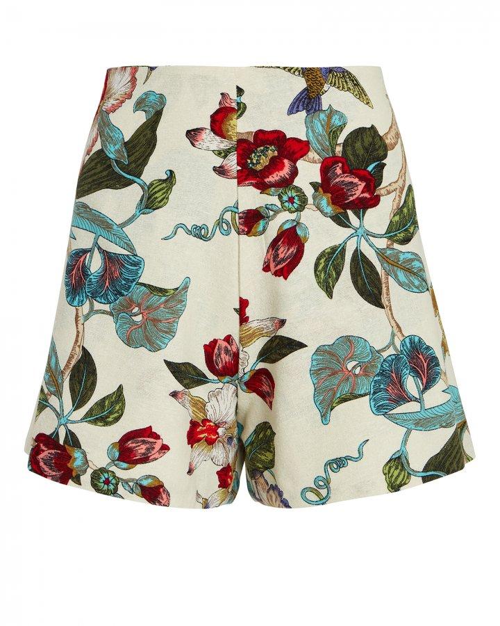 Catalina Floral Cotton Shorts