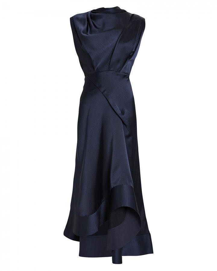 Dalisay Draped Satin Dress