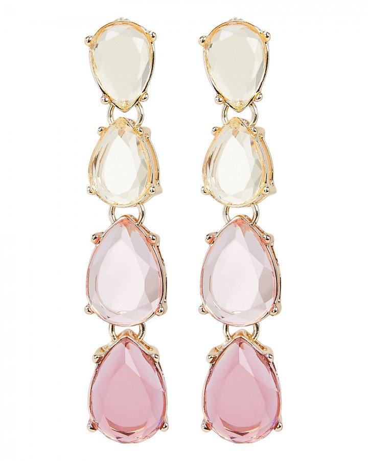 Ombré Pink Drop Earrings