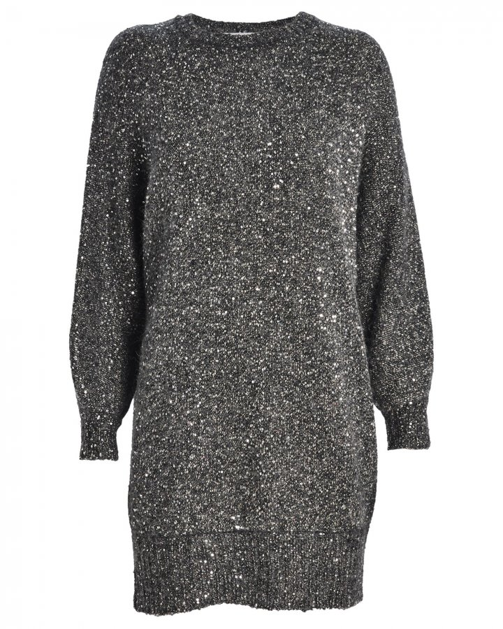 Sequined Oversized Sweater Dress