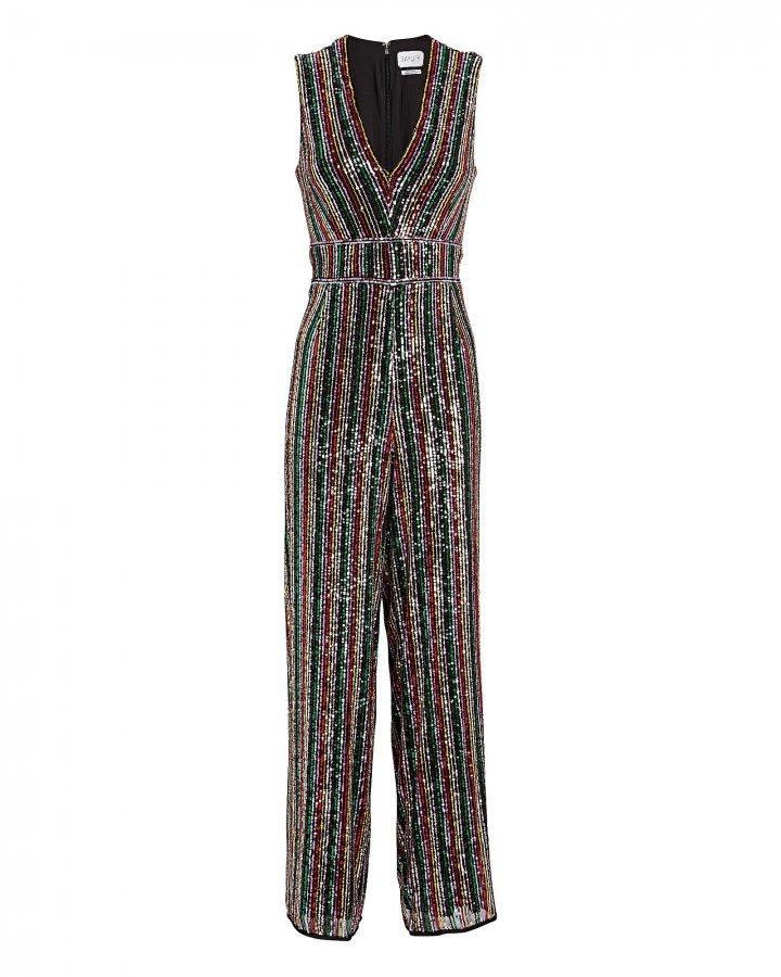 Winnipeg Sequin Striped Jumpsuit