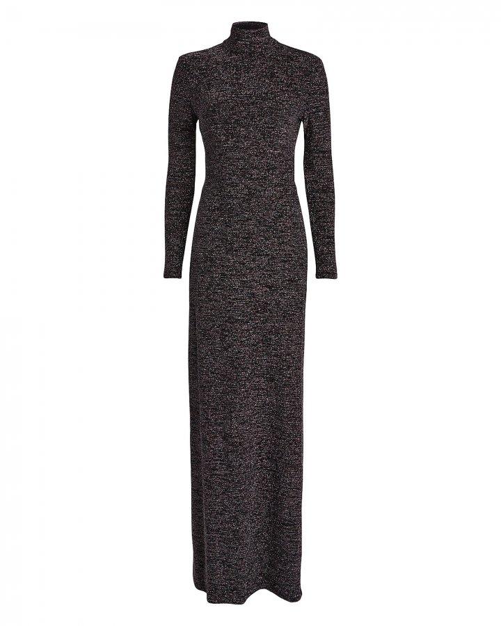 Kareela Open Back Lurex Knit Dress