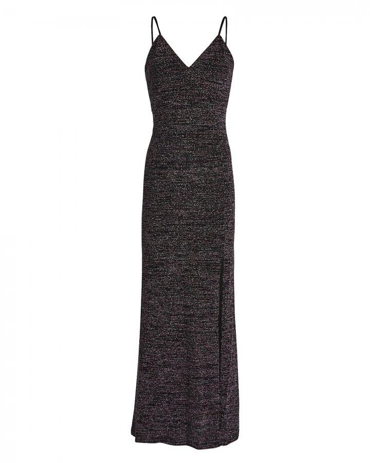 Adelaide Knit Lurex Slip Dress