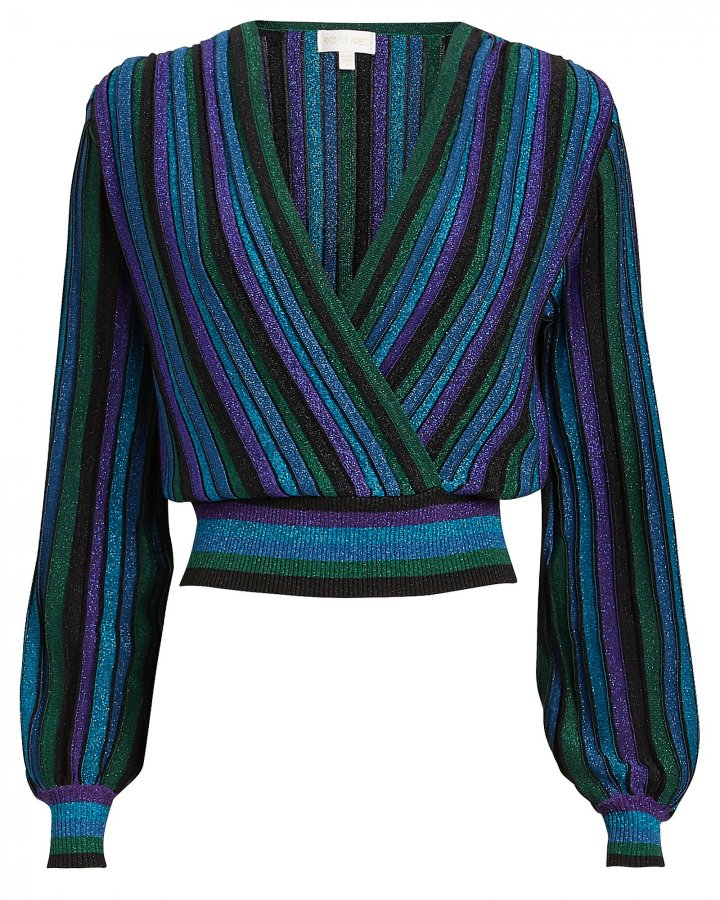 Johanna Metallic Striped Knit Top