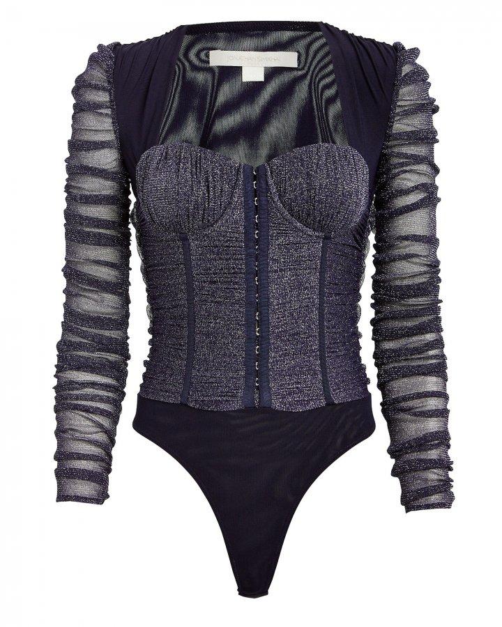 Shimmer Tulle Bustier Bodysuit