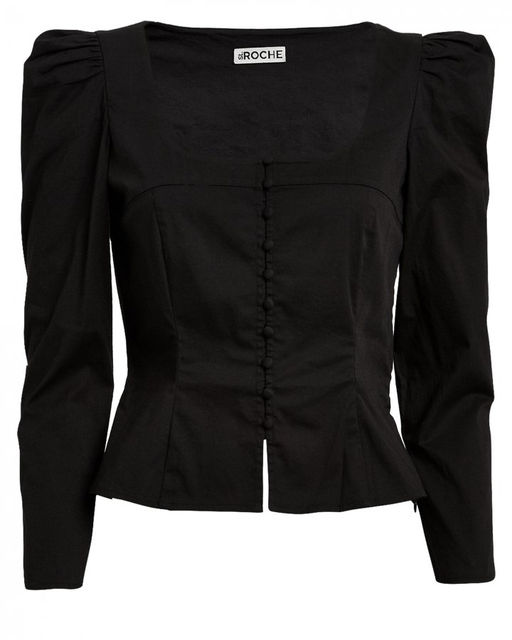 Sandrine Poplin Button Front Blouse