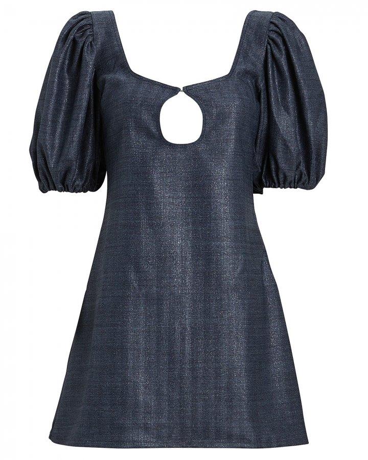 Mia Puff Sleeve Crepe Mini Dress