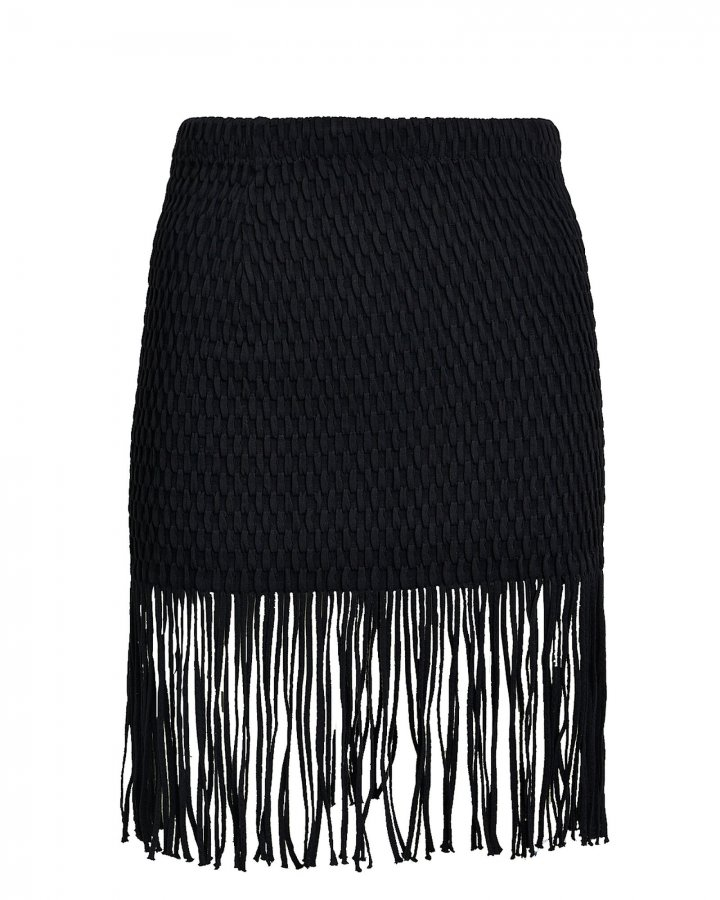 Caribe Fringe Mini Skirt